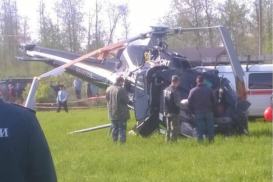 Следователи назвали вероятные причины падения вертолета возеро