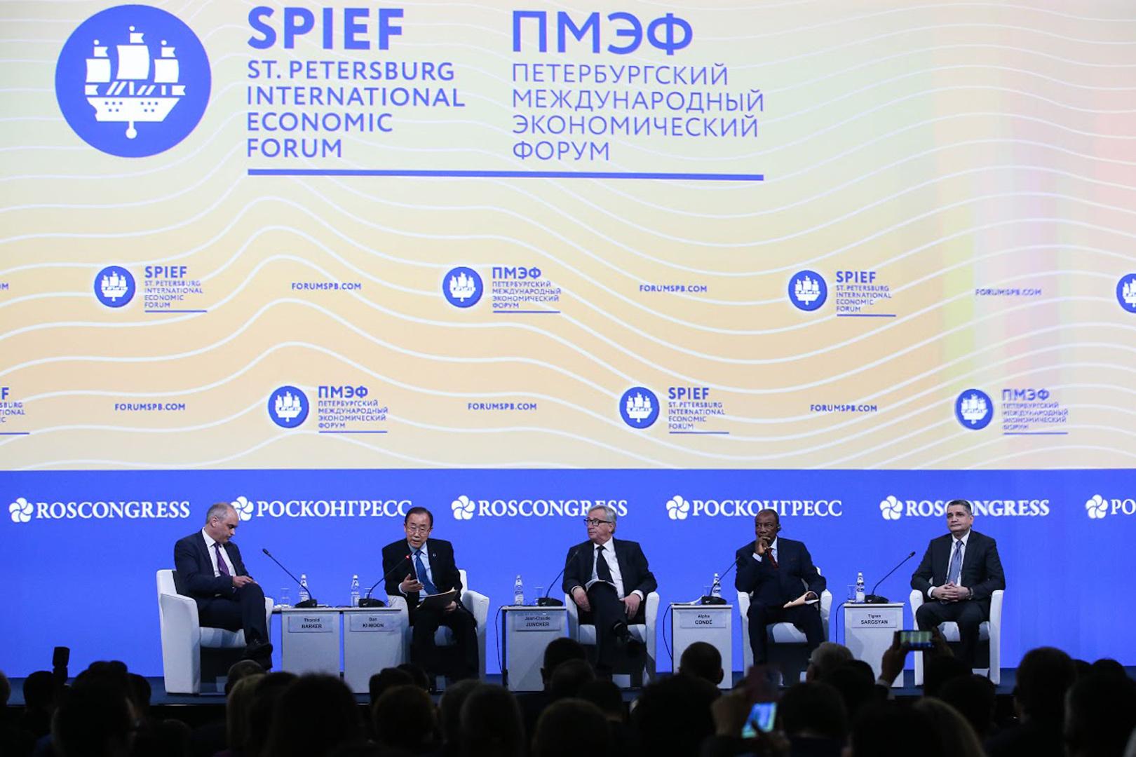 Петербургский международный экономический форум. Фото: Артем КОРОТАЕВ/ТАСС