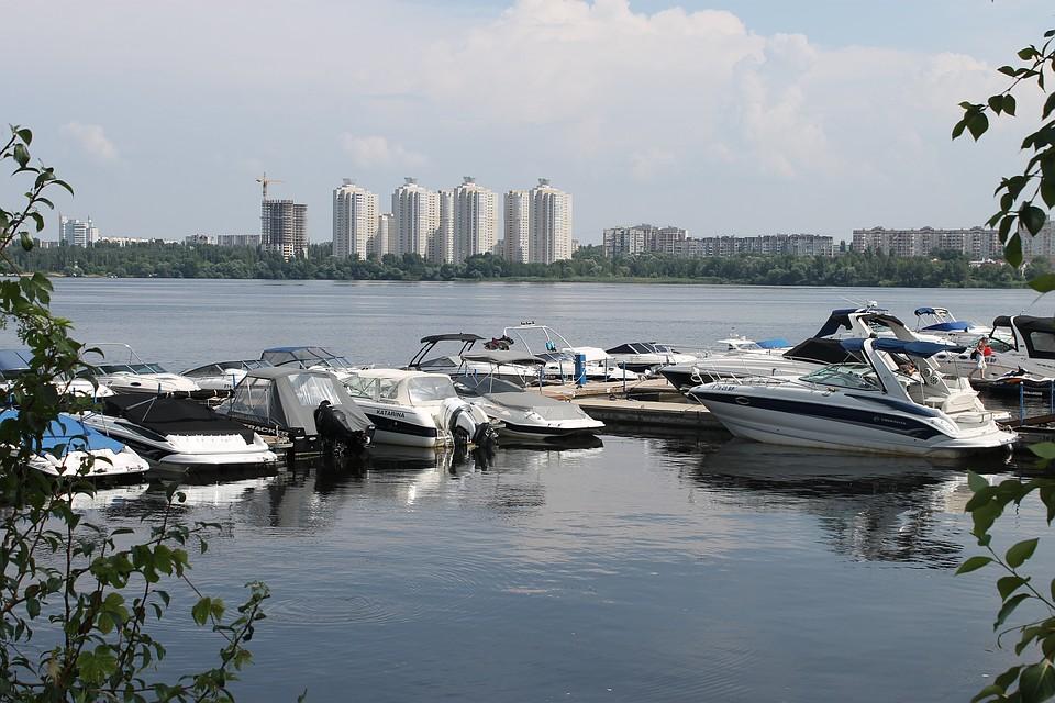 воронеж пристань с лодкой