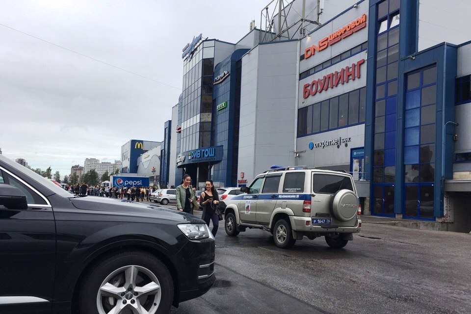 ТЦ «Меркурий» эвакуируют из-за сообщения обомбе
