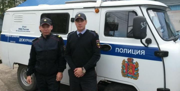 ВКрасноярском крае полицейские спасли умирающего наулице мужчину