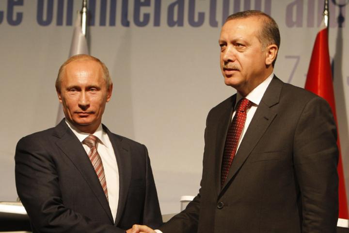 Президент России Владимир Путин и глава Турции Реджеп Тайип Эрдоган