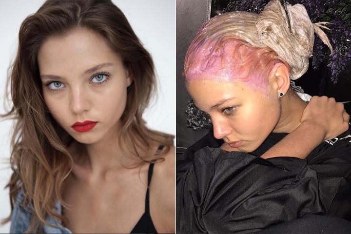 """Из шатенки Алеся превратилась в розововолосую """"барби"""". Фото: Инстаграм."""