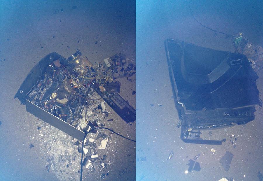 Неизвестный выбросил телевизор изокна 10-этажки вКопейске