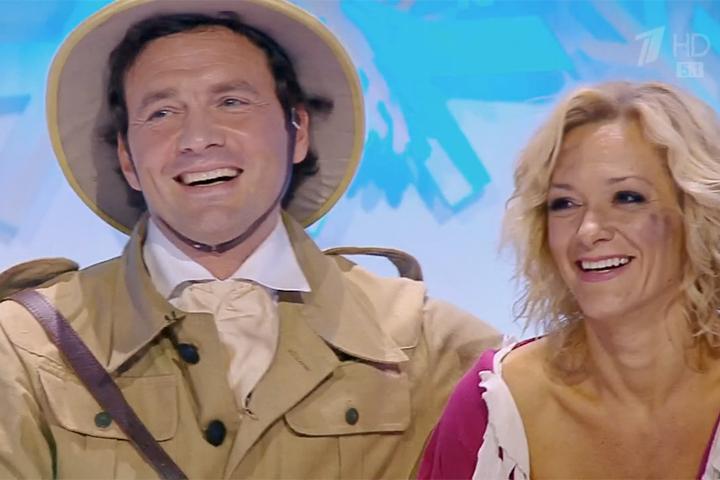 Виктор Васильев выступает в новом сезоне шоу «Ледниковый период» с Албеной Денковой