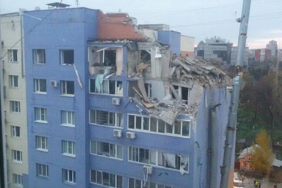 Взрыв дома вРязани: вСеть выложили видео сместа происшествия