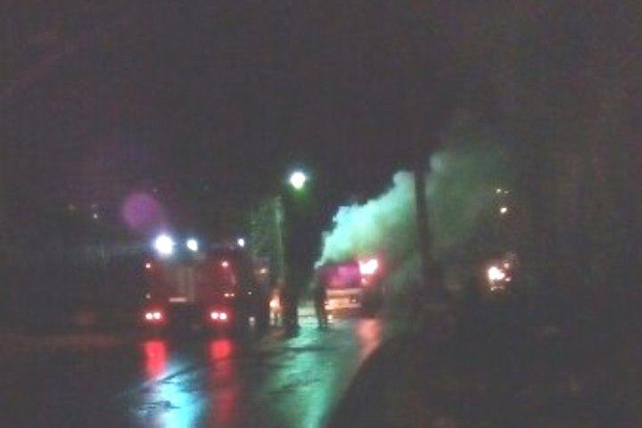 ВКизеле сгорел пассажирский автобус