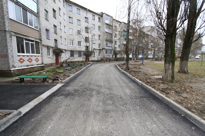 ВБрянске отремонтировано 38 из47 запланированных дворов