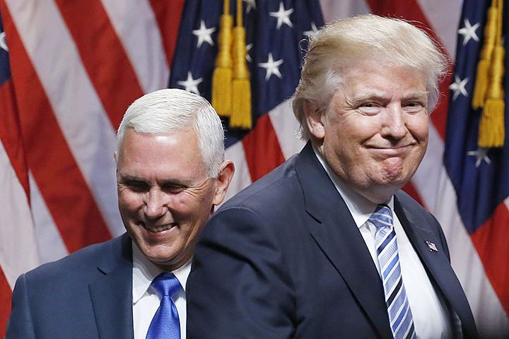Новые первые лица Америки – Майк Пенс и Дональд Трамп