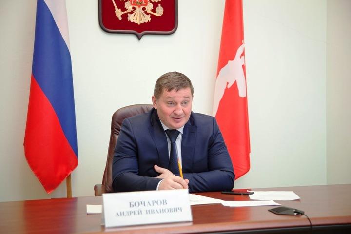 Андрей Бочаров отчитался перед Дмитрием Медведевым повидеосвязи