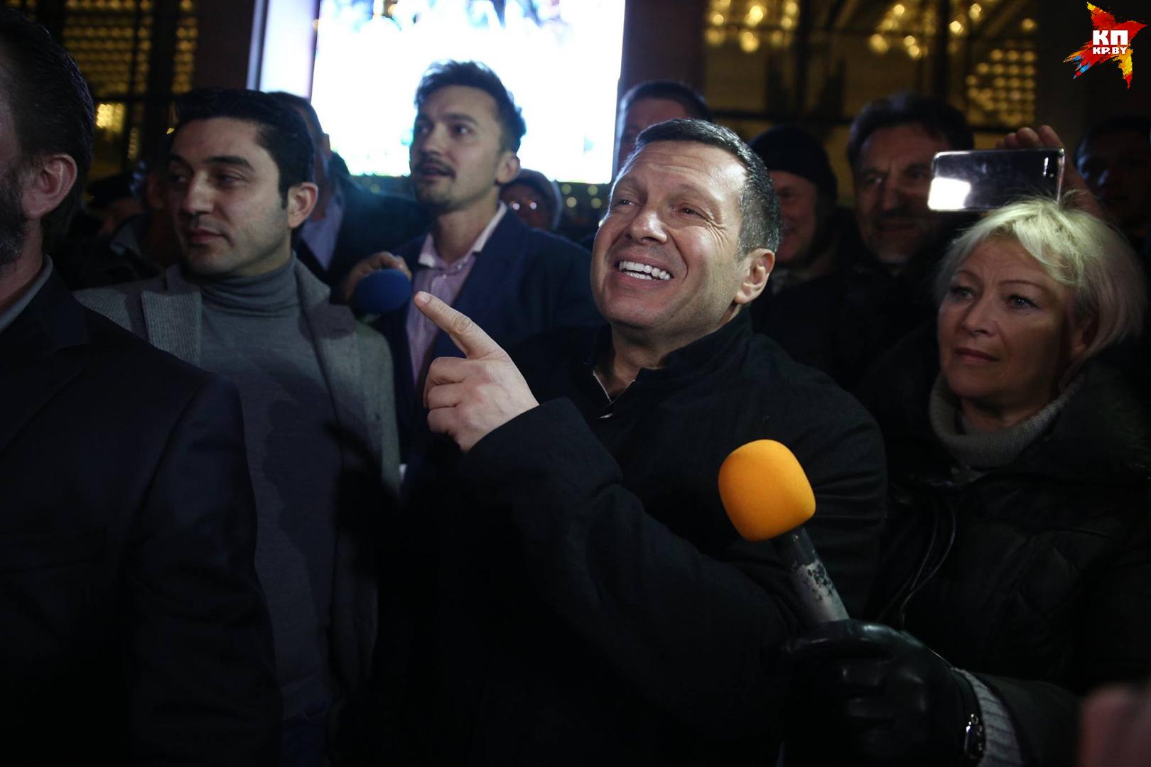 Выступление Владимира Соловьева в Минске пыталась сорвать оппозиция.