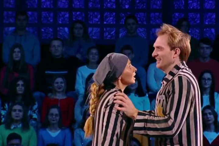 Навка и Бурковский танцевали под песню Beautiful That Way из знаменитого итальянского фильма «Жизнь прекрасна»
