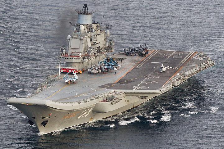 Издание Wall Street Journal раскритиковало экипаж и оснащение «российского авианосца «Адмирал Кузнецов».