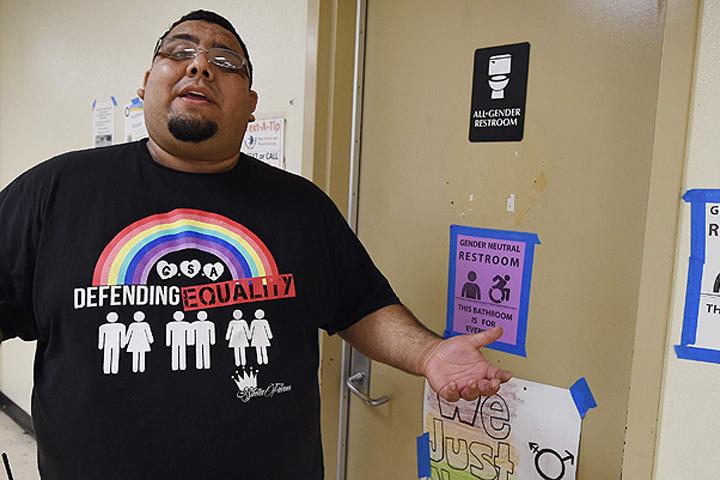 Гендерно-нейтральные туалеты в одной из школ Лос-Анджелеса.