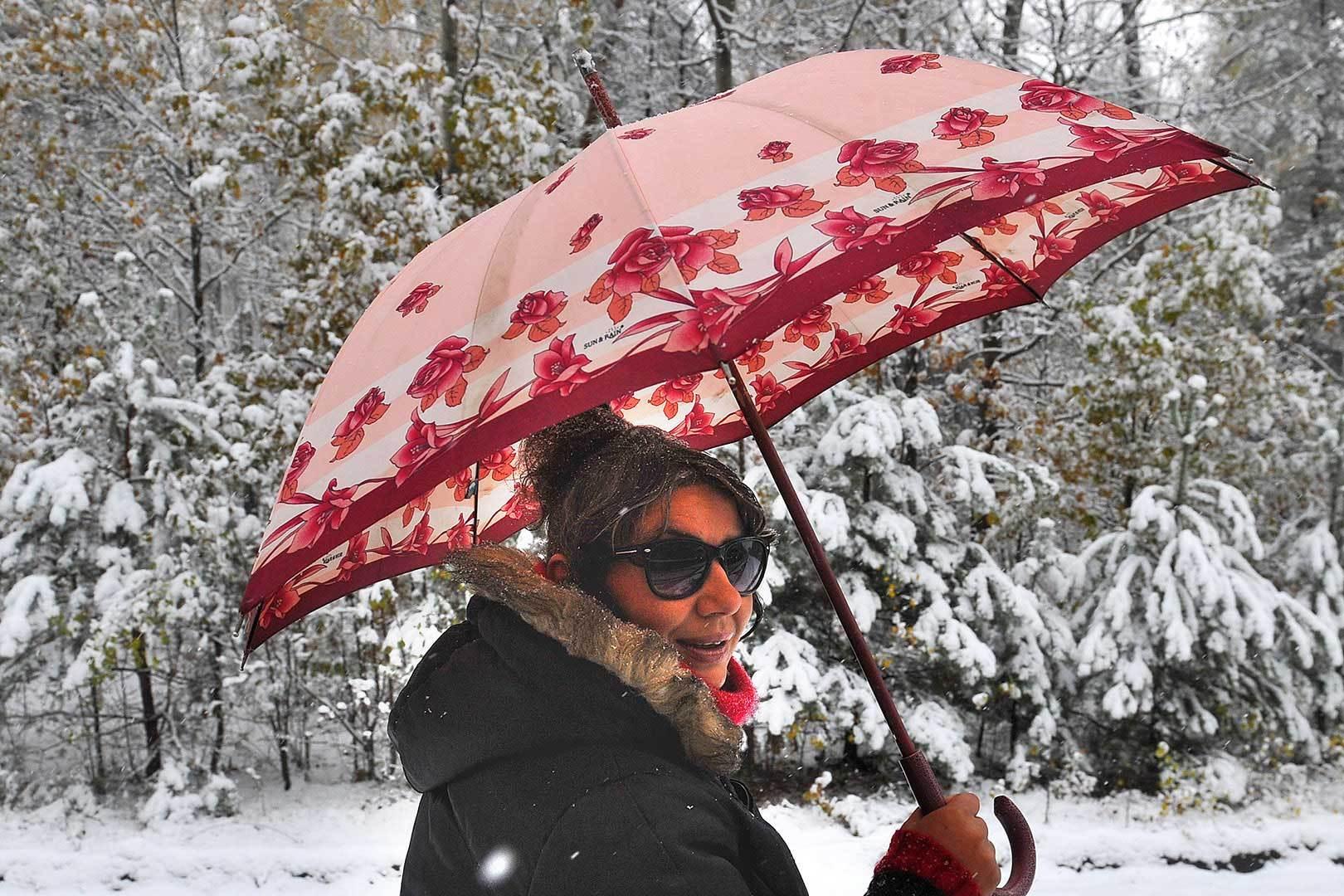 Облачно, реален снег: навыходных вПинске тихая погода
