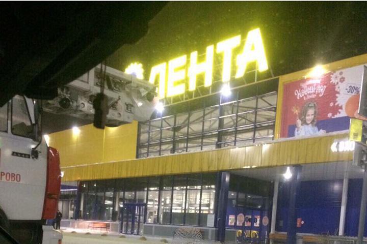 Вкемеровском гипермаркете «Лента» ночью случилось ЧП