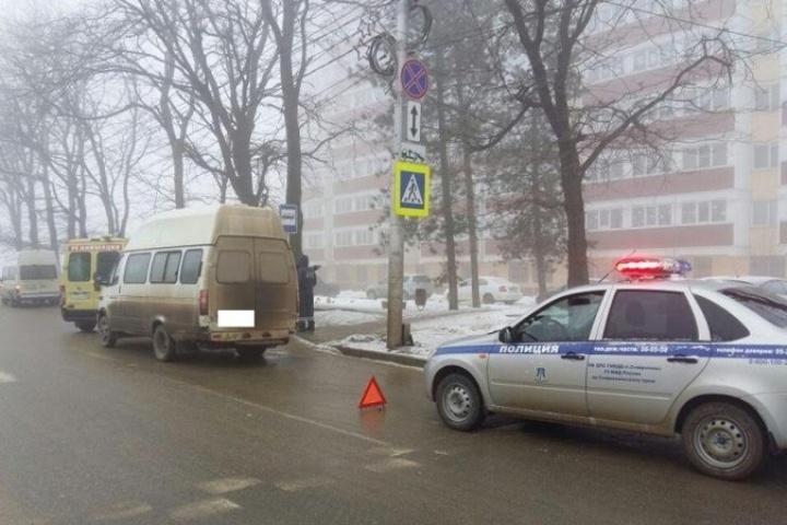Маршрутка сбила пенсионера на«зебре» вСтаврополе