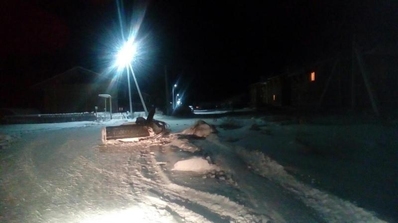 В Советском районе снегоход врезался в бетонный блок. Водитель погиб, Фото ГИБДД ХМАО