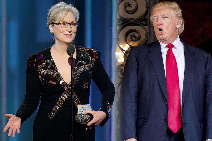 Звезда Голливуда Мерил Стрип, выступая на церемонии, обвинила избранного президента США Дональда Трампа в разжигании ненависти