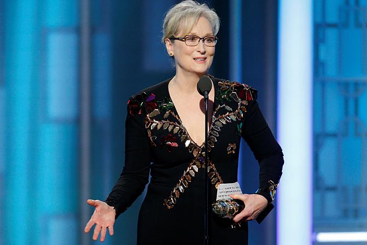 На церемонии вручения Золотых глобусов Стрип получила награду за особые достижения в искусстве. И выбрала именно этот момент для очень личной атаки на Дональда Трампа