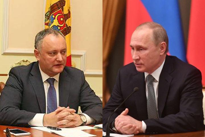В.Путин и И.Додон проведут переговоры в столице 17января