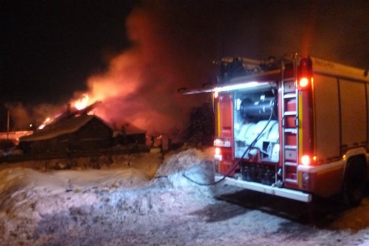 Ввоскресенье вечером наКрасном Химике горел дом