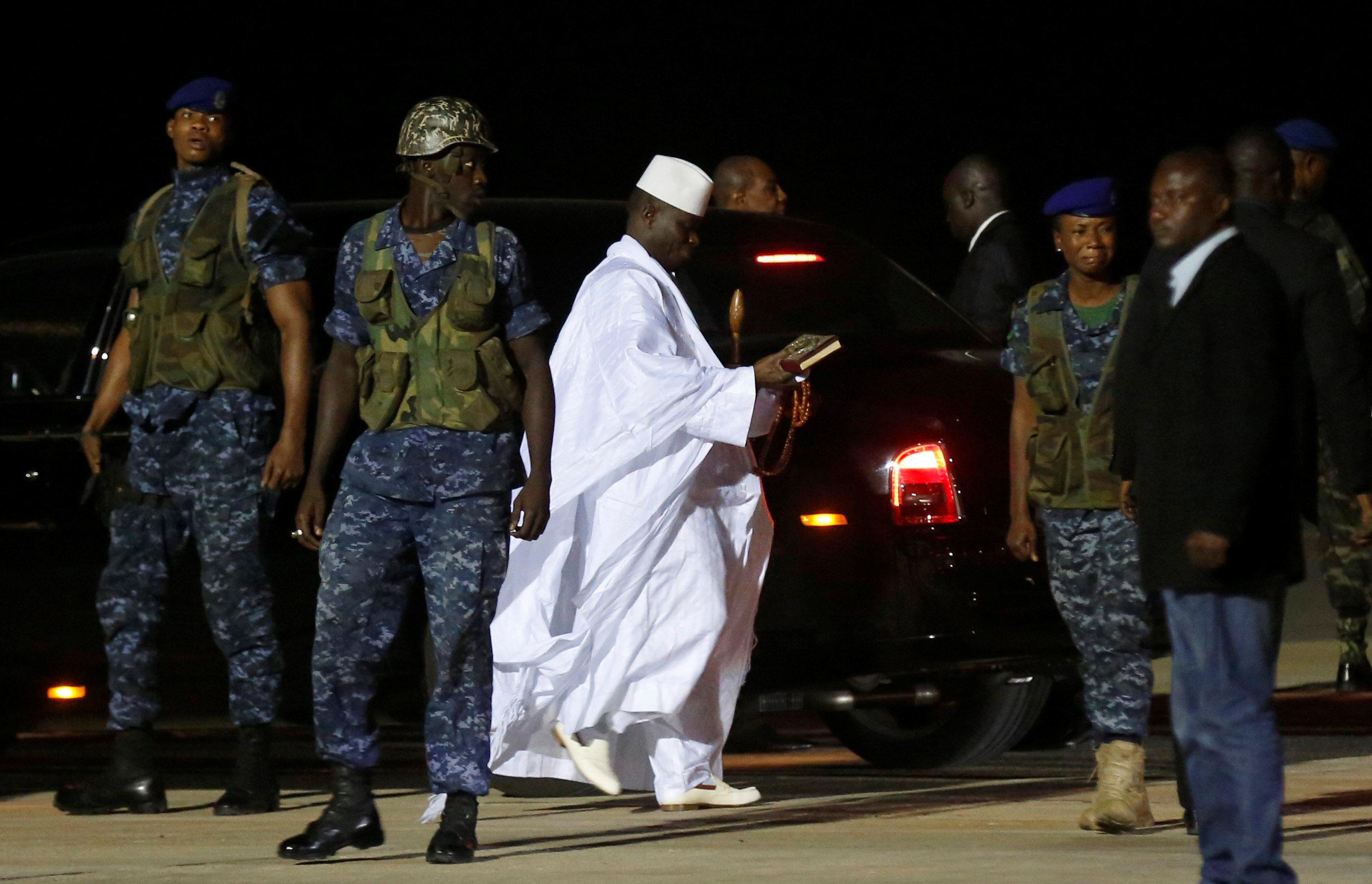 Экс-глава Гамбии отправился визгнание