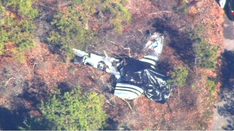 При крушении легкомоторного самолета вНью-Йорке погибли два человека