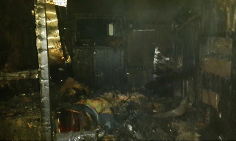 ВМикляихе напожаре вбане умер человек