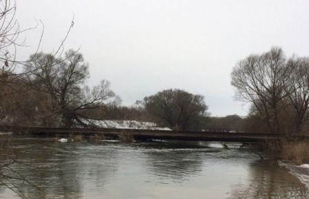 Из-за угрозы затопления талыми водами вОрловской области перекрыли мост через Оку