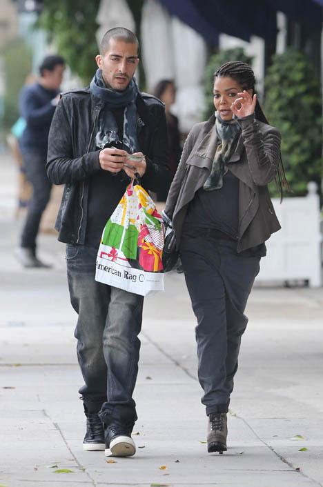 Дженет со своим мужем: избранником звезды стал катарский миллиардер Виссам Аль Мана. Фото: SPLASH NEWS
