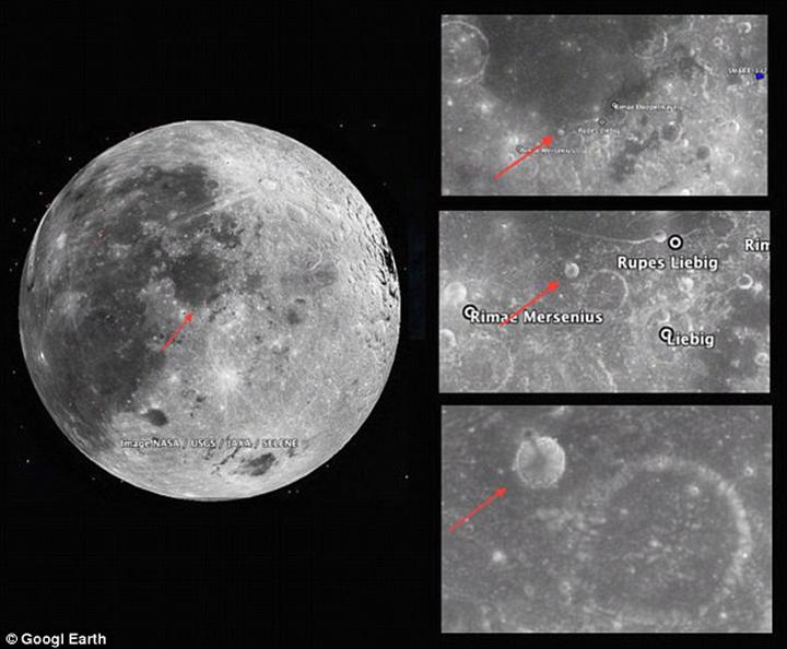 Ресурс Google Moon башню показывает.