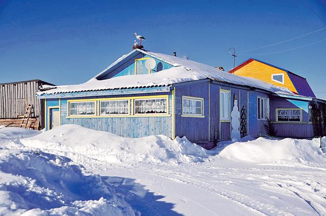 На крыше - аист, под крышей - семейный детдом Соловьевых. Фото: Сергей ШАХИДЖАНЯН