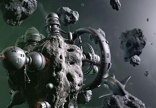 В планах земных ученых превратить астероиды в космические базы.