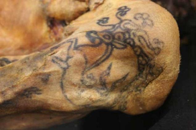 Одна из татуировок Принцессы Укоки Фото: РИА Новости