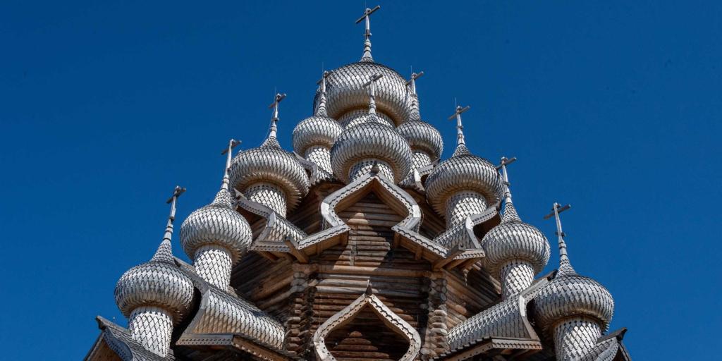 купола церковь преображения кижи