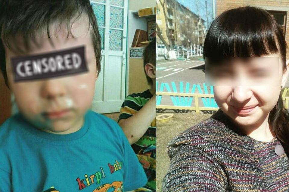 Волос попал в рот ребенку