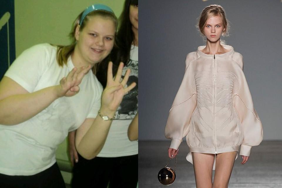 Пермячка Екатерина Пешкова в подростковом возрасте и сейчас. Фото: личный архив и модельное агентство Belle