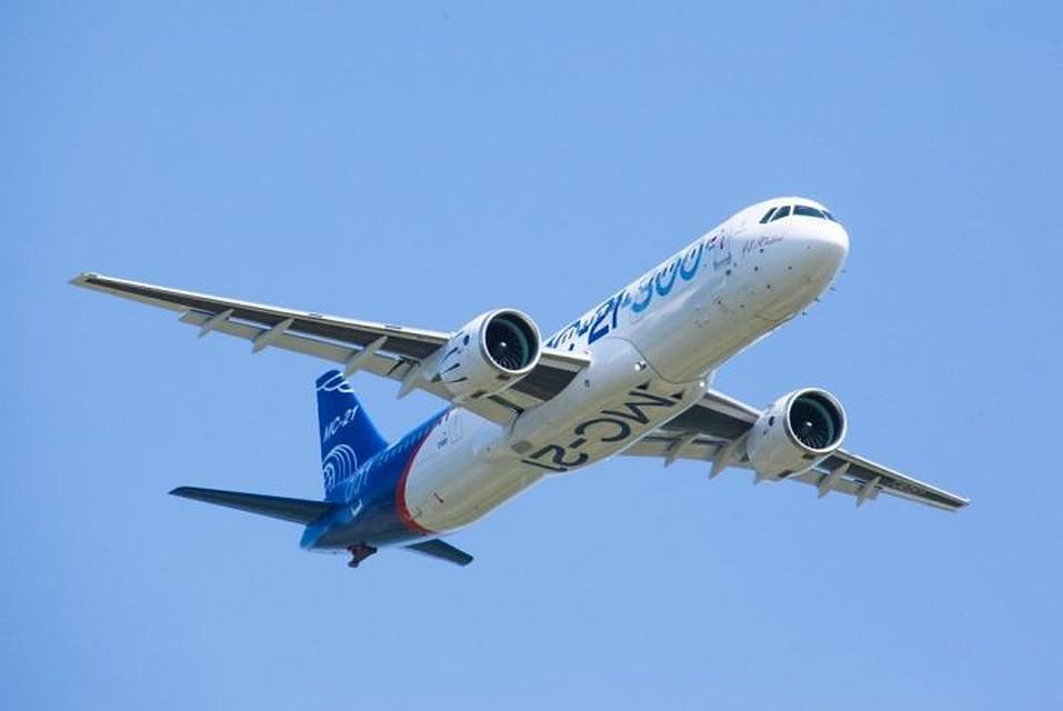 Самолет МС-21 совершил первый полет с убранными шасси