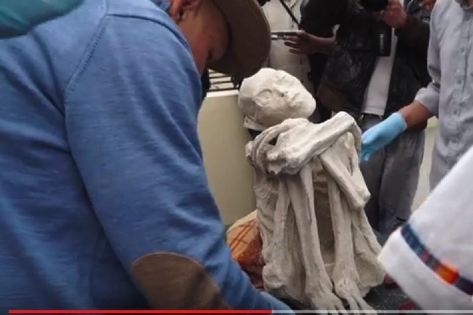 Мумия, обнаруженная возле плато Наска.