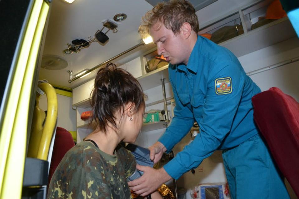 Девочка была напугана, но в целом физи чески не пострадала Фото: ГУ МЧС по Красноярскому краю