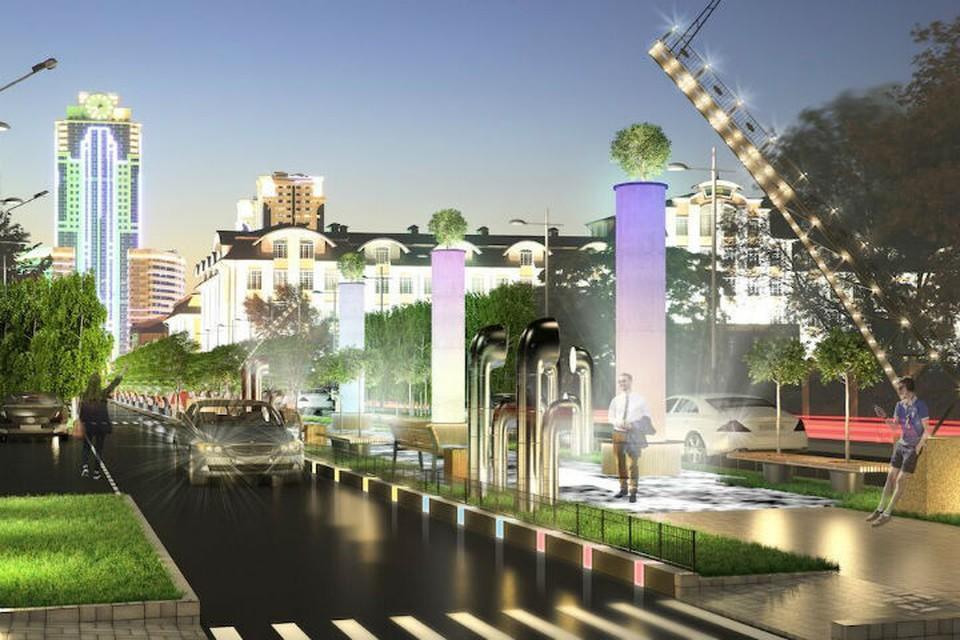 """Так будет выглядеть Санкт-Петербургская улица в Грозном. Фото: Компания """"Айра"""""""