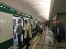 По «Зеленой» ветке метро поехали зеленые поезда!