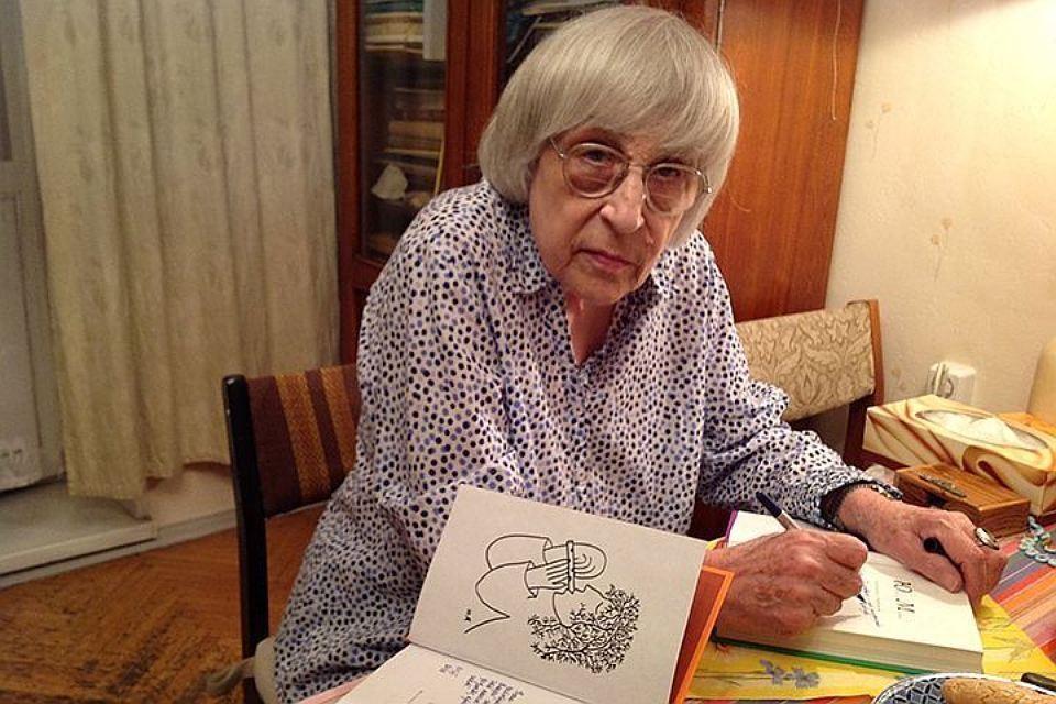 Поэтесса Юнна Мориц.