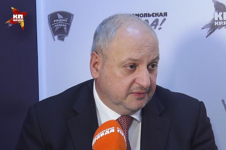 Гендиректор Новороссийского комбината хлебопродуктов Олег Молибога.