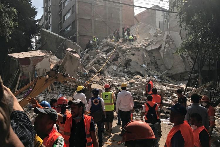 Разрушительное землетрясение в Мексике