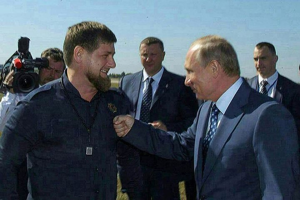 Image result for Рамзан Кадыров поздравил Владимира Путина.