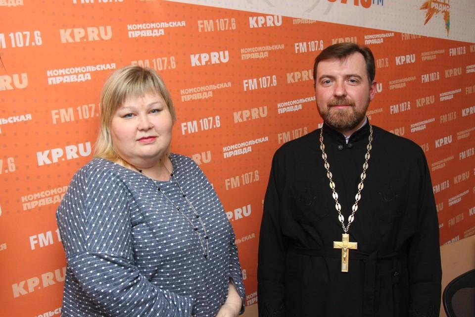 отец Андрей Петров и психолог Мария Сентякова