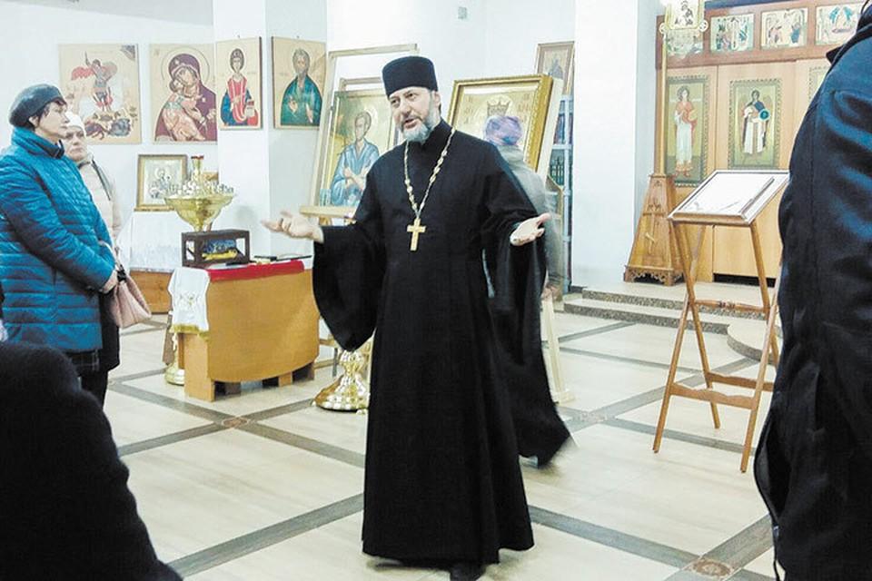 Настоятель храма Новомучеников и исповедников российских отец Павел Базаров