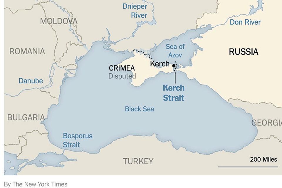 Эта опубликованная в New York Times карта возмутила МИД Украины. Фото: скриншот www.nytimes.com
